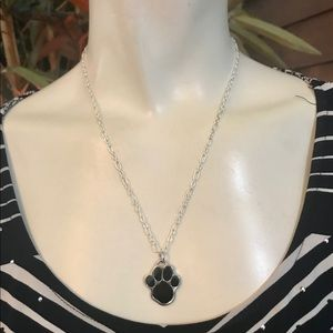 Coach Black Puppy Paw .925 Sterling Necklace